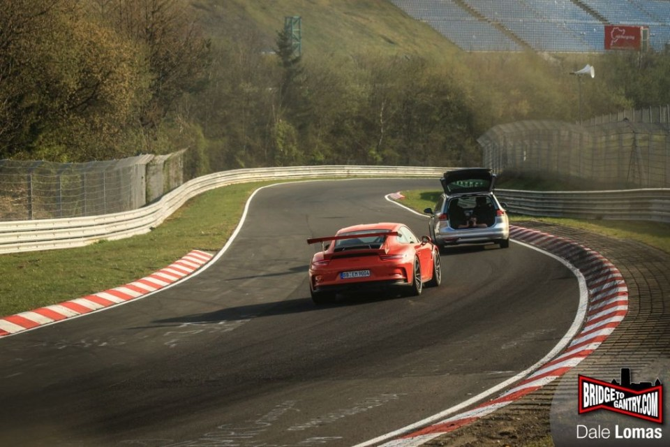 Mark Webber testing Porsche 911 GT3RS at Nurburgring 2