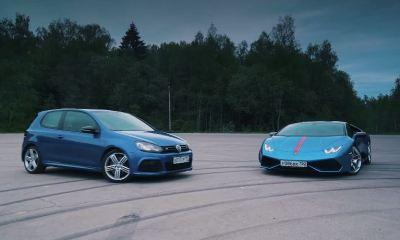 700hp VW Golf R vs Lamborghini Huracan