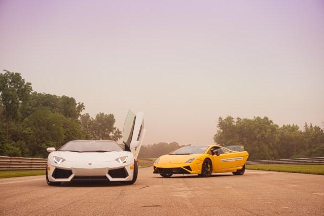 Lamborghini customer track day at Autobahn Raceway 1