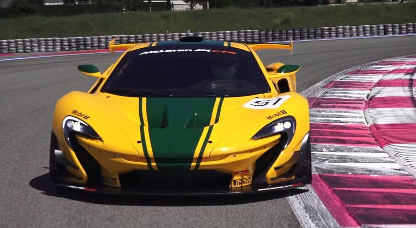 McLaren P1 GTR driven by Bloomberg