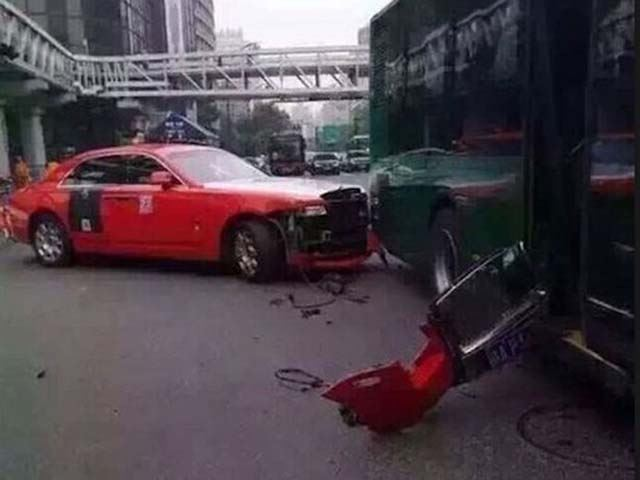 Psy of 'Gangnam Style' fame crashes Rolls Royce