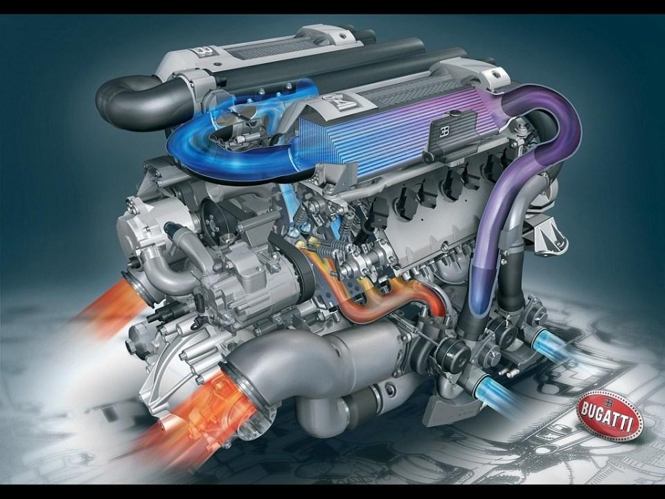 Bugatti Veyron W16 Engine cutaway