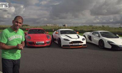 Aston GT12 vs Porsche 911 GT3RS vs McLaren 650S