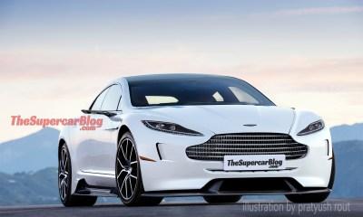 Aston Martin Electric sedan rendering