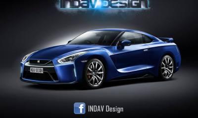 Nissan GT-R Facelift Rendering 1