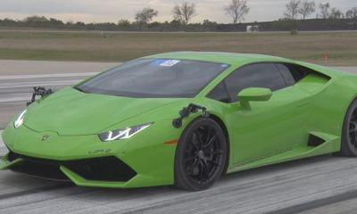 Twin-Turbo Lamborghini Huracan half mile world record