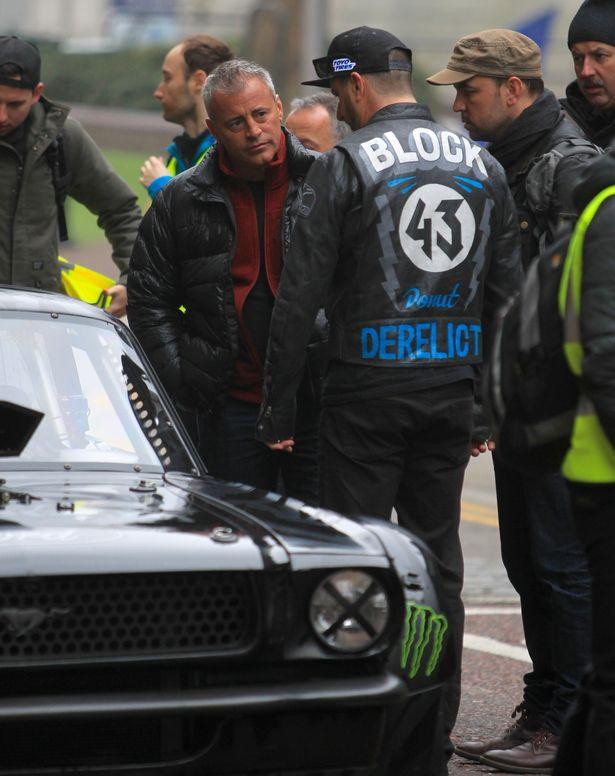 Matt LeBlanc Filming Top Gear with Ken Block in London -1