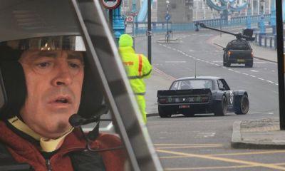 Matt LeBlanc Filming Top Gear with Ken Block in London -2