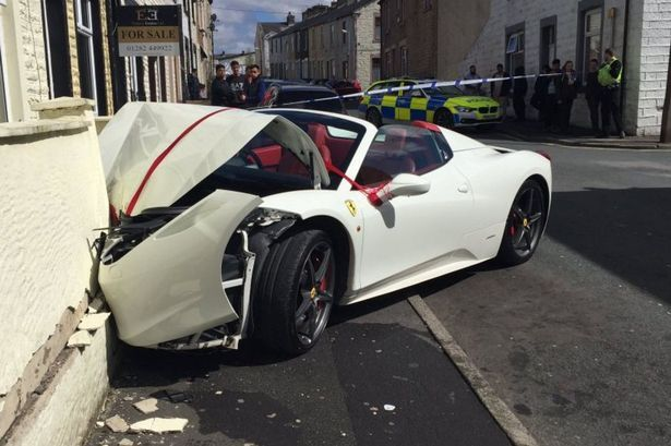 Lord Aleem's Ferrari crashed by newlyweds-2