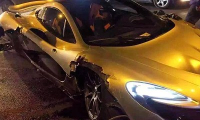 McLaren P1 crashed in China-1