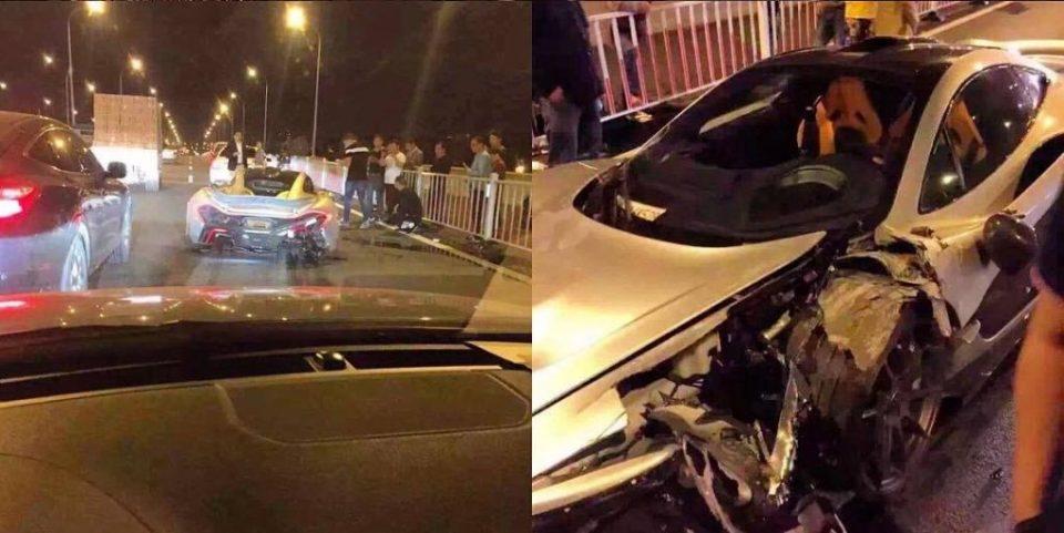 McLaren P1 crashed in China-2