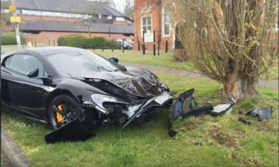 McLaren 650S crashed in the UK