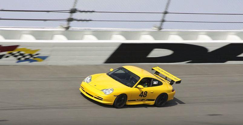Porsche GT3 tire blowout at 150 mph