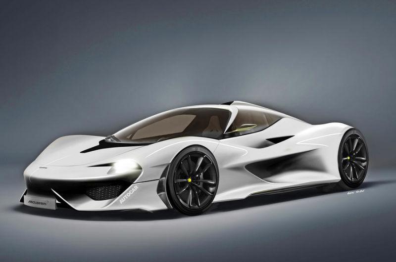 McLaren F1 successor rendering by Autocar