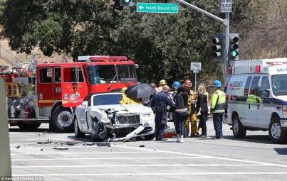 Kris Jenner crashes brand new Rolls Royce Dawn