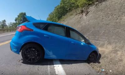 2016 Ford Focus RS crashes while in Drift Mode