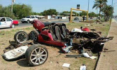 Koenigsegg CCX crashed in Mexico-1