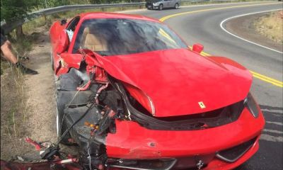 26-year old Subaru owner wrecks a Ferrari 458 Italia
