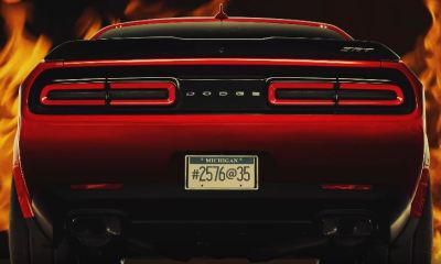 Dodge Challenger Demon coded message teaser