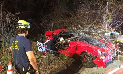 Ferrari 458 Speciale Red Bud Trail Crash-Austin-Texas-2
