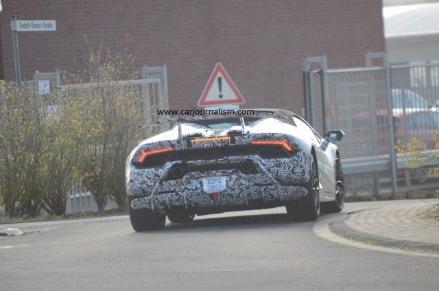 Lamborghini Huracan Performante Spyder-spy shots-Nurburgring-1