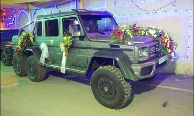 Brabus G63 AMG 6X6-India-wedding car-1
