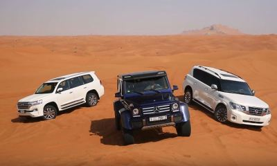 Mercedes-Benz G500 4x4 vs Toyota Land Cruiser vs Nissan Patrol