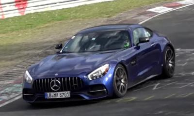 2018 Mercedes-AMG GT Facelift spotted-prototype-test mule-Nurburgring