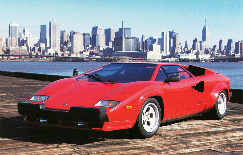 US-spec Lamborghini Countach bumper protection
