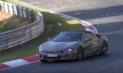 BMW i8 Spyder spotted-Nurburgring