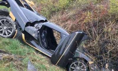 Koenigsegg Agera RS crash-Sweden