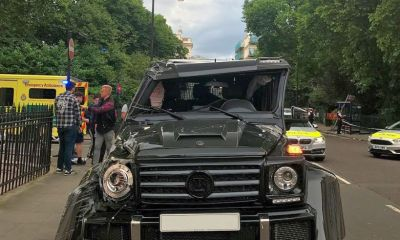 Brabus G500 4x4 roll over crash-London