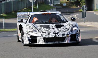 McLaren P15-Nurburgring-spy shots