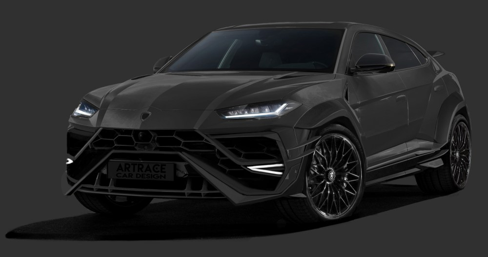 Custom Lamborghini Urus-carbon bodykit-Artrace Car Design-rendering