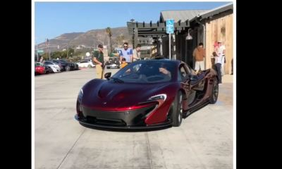 McLaren P1-curb crash-Cars and Coffee-Malibu