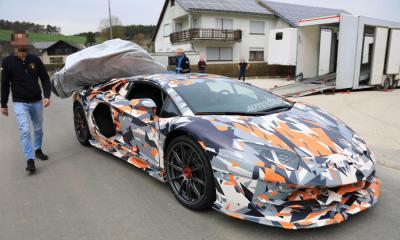 Lamborghini Aventador SVJ-spy-shots-test-mule-1