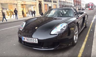 Straight pipe-Porsche Carrera GT-London