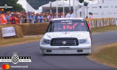 Toyota Tundra NASCAR Truck-Bill Goldberg-Goodwood-2018-crash