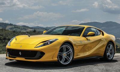 Ferrari 812 Superfast yellow