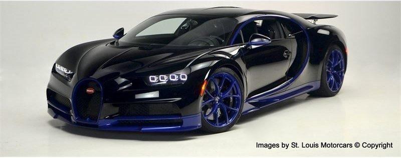 Bugatti Chiron Black and Blue