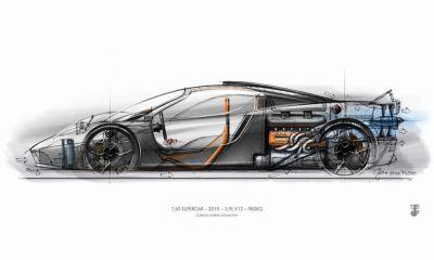 Gordon Murray T50 Hypercar-digital-rendering-sketch