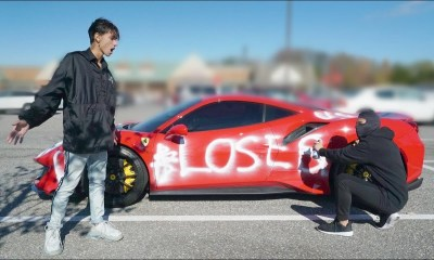 Lucas and Marcus-Ferrari-vandalized