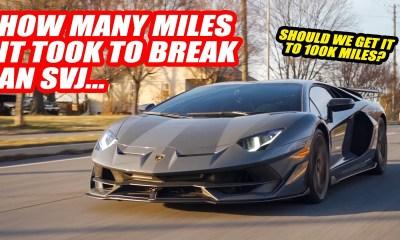 Highest Mileage Lamborghini Aventador SVJ