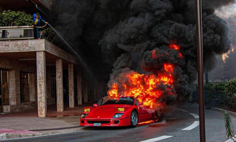 Ferrari F40-Fire-Monaco-1