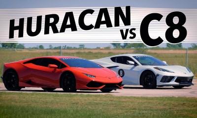 Hennessey Corvette C8 vs Lamborghini Huracan