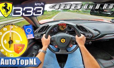Ferrari 488 GTB-Top Speed-Autobahn