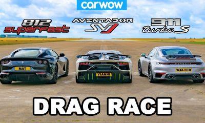 Ferrari 812 Superfast vs Lamborghini Aventador SVJ vs Porsche 911 Turbo S