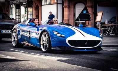 Blue Ferrari Monza SP2-London