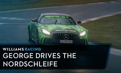 Williams F1 George Russell-Mercedes-AMG GT R- Nurburgring