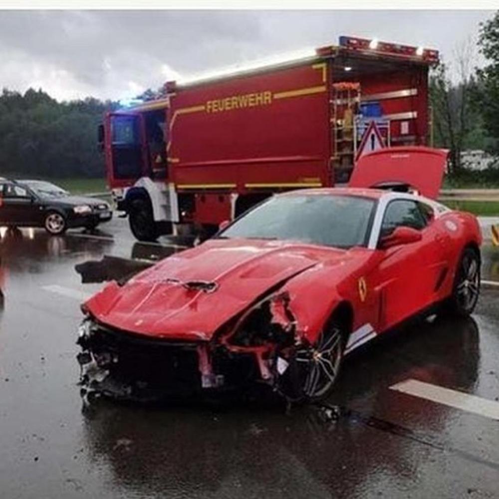 Ferrari 599 GTB Alonso Edition-crash-Germany
